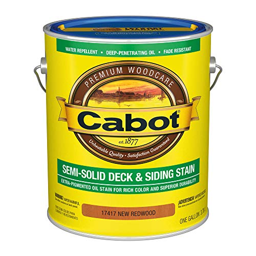 powerful Cabot 140.0017417.007 Semi-hard deck & siding Low VOC external stain, gallons, mahogany