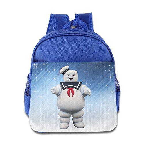 Historia de elfo–Stay Puft Marshmallow Man poco Kid bebé niños niñas escuela mochila azul eléctrico