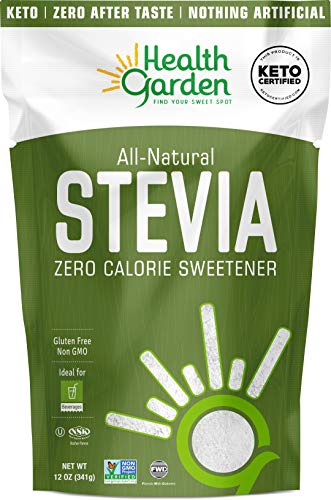 Health Garden Stevia Sweetener Powder - 4:1 Sugar Substitute - All Natural - Gluten Free - Keto Friendly - Tastes Like Sugar (12 oz)