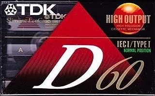 TDK D60 60-Minute Cassettes: 5-Pack