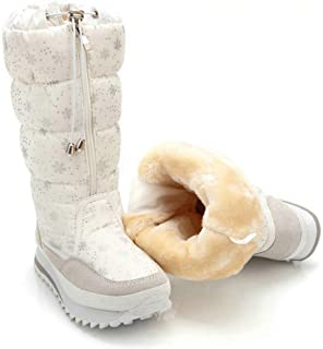 Winter boots High Women Snow Boots plush Warm shoes easy wear girl white zip shoes