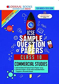 Oswaal ICSE Sample Question Papers Class 10 Commercial Studies (For March 2019 Exam) by [Oswaal Editorial Board]