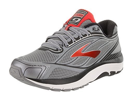Brooks Dyad 9 Primer Grey/High Risk Red/Black 7