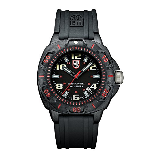 Luminox Men's 0215.SL Sentry 0200 Black Dial With Red Markings Watch