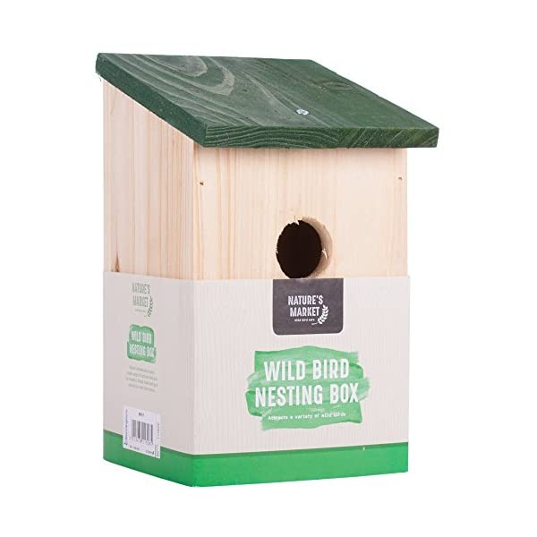 Traditional Garden Shed Wooden Wild Bird Nesting Birdhouse Box Robin Bluetit