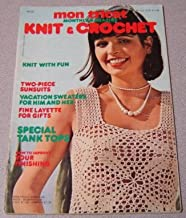 Mon Tricot Knit & Crochet Monthly Magazine #MD33, 6/76