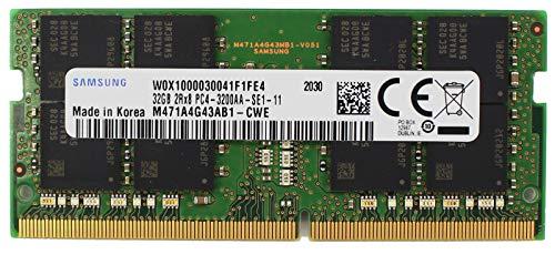 Genuine Sam Original 32GB DDR4 3200MHz PC4-25600 SODIMM 2Rx8 CL22 1.2v 260-PIN Factory Notebook DRAM RAM M471A4G43AB1-CWE Adamanta