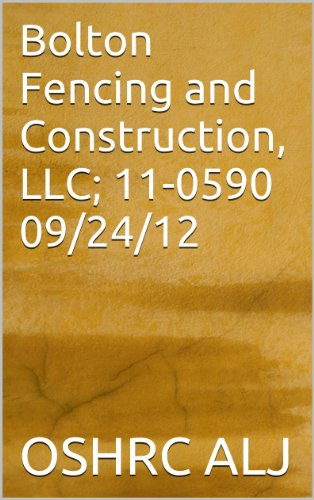 Bolton Fencing and Construction, LLC; 11-0590 09/24/12 (English Edition)