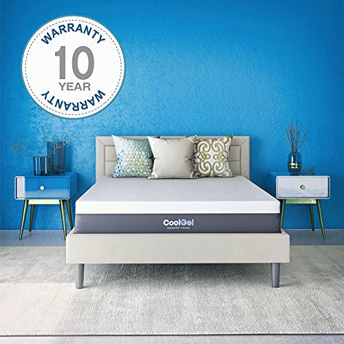 Classic Brands Cool Gel Ventilated Memory Foam 12-Inch Mattress | CertiPUR-US Certified | Bed-in-a-Box, Twin