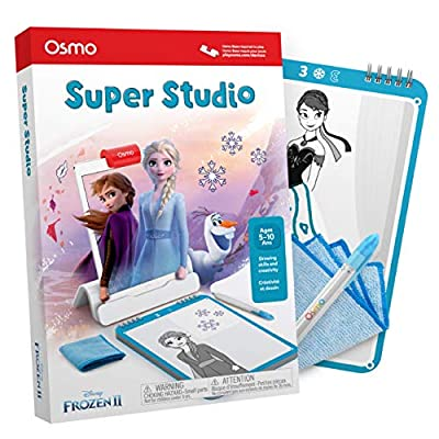 Osmo - Super Studio Disney Frozen 2 Game - Ages 5-11 - Learn To Draw Elsa, Anna, Olaf & More Favorites & Watch Them Come to Life - (For iPad & Fire Tablet Base Required)