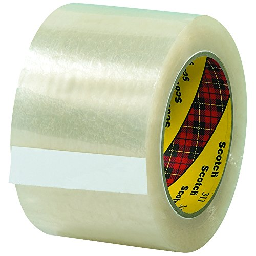 "3M 311 Carton Sealing Tape, 2.0 Mil, 3"" x 110 yds, Clear, 24/Case, 3M Stock# 7100190496"