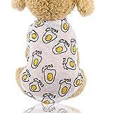 FHKGCD Ropa De Sol para Mascotas De Verano Chaleco De Perro Transpirable Camisa Ropa para Perros Pequeños Disfraz Chihuahua Ropa Perro, Huevo Escalfado, XS 0.5-1.2Kg