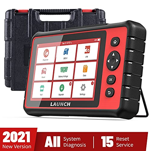 LAUNCH 2021 Upgraded OBD2 Scanner, CRP909 Auto Scan Tool All Systems Diagnostic Code Reader for All Cars with 15 Special Reset, ABS Bleeding IMMO Oil Service Throttle Adaptation