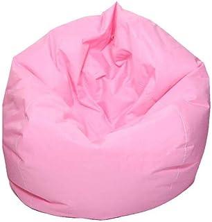 S Didatecar Housse de pouf en lin pour enfants et adultes bleu -