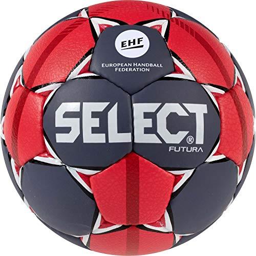 SELECT Futura, Pallone da Pallamano Unisex-Adulti, Bianco Grigio Rosso, Set da 3