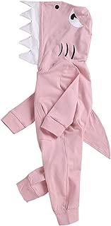 Efbj Baby Rompers Shark Cartoon Coverall Romper Unisex Bodysuit Clothes Jumpsuit Pajamas