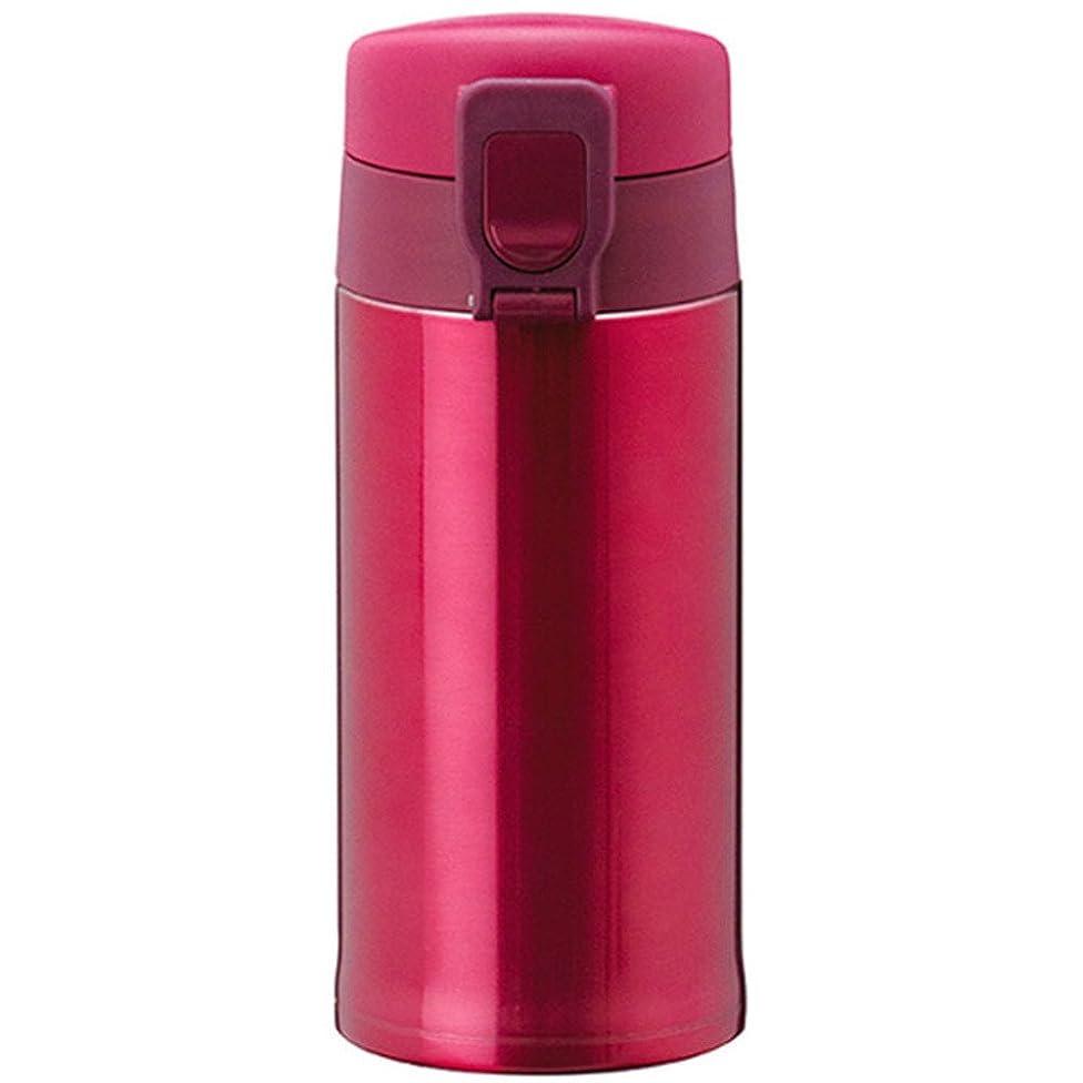 コマース没頭する傑作ATLAS(アトラス) 水筒 350ml ステンレスボトル フェザー マグボトル 軽量 ワンタッチ ボトル ピンク AWN-350