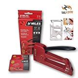 Toolscentre Kangaro Miles Tp-10 Gun Tacker, Sofa Stapler With Staple (Red, Medium)