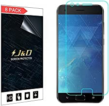 J&D Compatible for 8-Pack ZenFone 4 Pro Screen Protector, [Not Full Coverage] Premium HD Clear Film Shield Screen Protector for ASUS ZenFone 4 Pro (ZS551KL) Crystal Clear Screen Protector