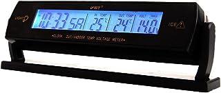 Morza Auto Auto LCD-On-Board-Digital-Temperatur-Thermometer-Kalender elektronischer Leuchtluftaustritt Hintergrundbeleuchtung Uhr