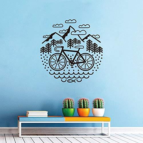 Calcomanías de bicicleta y hastial pegatinas de pared de bicicleta al aire libre pegatina de bicicleta triturada vinilo adhesivo de fondo extraíble mural 57x57cm