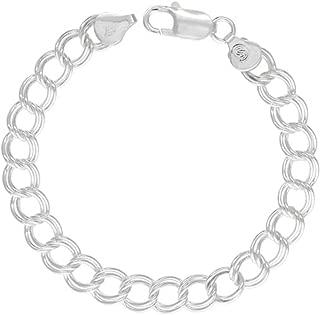 Best double link silver charm bracelet Reviews