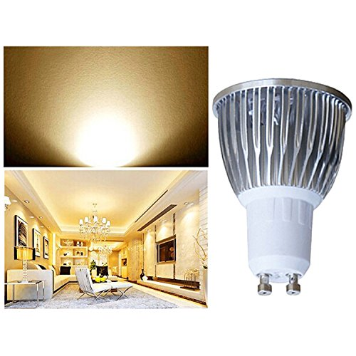 5 PCS GU10 3W LED Light Bulbs 350LM Luminous Flux for Kitchens Bedroom Living Rooms Hallways Warm White