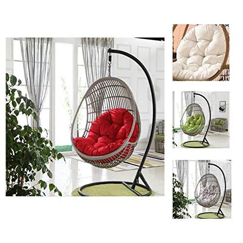 Swing stoel kussen, anti-slip dikker opknoping stoel pad ei hangstoel kussen voor binnen buiten tuin opknoping mand stoel (90x120cm)