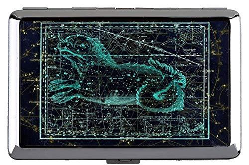 Zigarettenetui Box, Sternbild Sternbild Sternzeichen Himmel Themen der Tasche mit Zigarettenschachtel