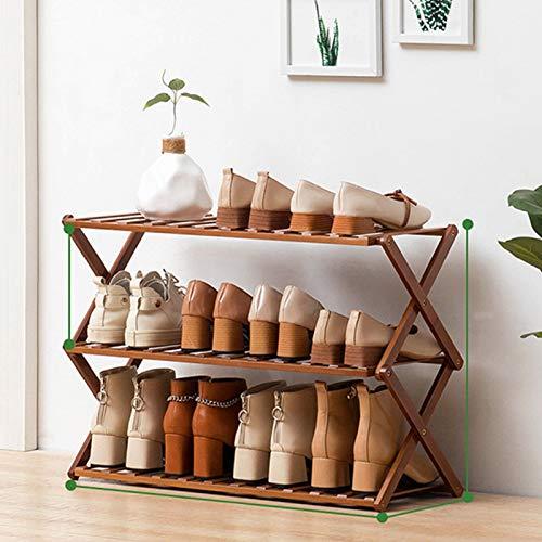 Estante plegable para zapatos, puerta simple para el hogar, pequeño, económico, armario para zapatos, artefacto de almacenamiento, dormitorio, multicapa, a prueba de polvo para una fácil limpieza,B