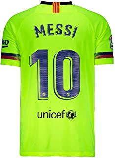 GoalSports Barcelona Away 2018/19 Jersey with Official Messi Adult XX-Large