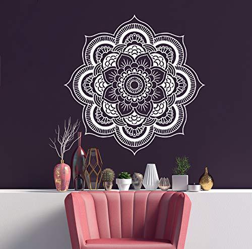 Mandala Wandtattoo | Mandala Lotus Blumendekor | Mehndi Wandaufkleber | Yoga Studio Aufkleber | Hergestellt in Polen | Oracal | Boho indisches Schlafzimmer | Mandala böhmische Wandkunst | MN237