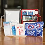 Be Smart Get Prepared First Aid Kit, 250 Piece Set 1 Count 12 250 pieces of comprehensive first aid treatment products. Manufactured by the leading manufacturer of First Aid Kits in the USA. Meets or exceeds OSHA and ANSI 2009 guidelines for 50 people. Ideal for most businesses and perfect for family use at home. Fully organized interior compartments provides quick access. Rugged, sturdy hard plastic case is impact resistant