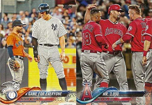 2018 Topps Traded MLB Baseball Updates and Highlights Series Complete Mint 300 Card Set LOADED with Stars and Rookie Cards Including Aaron Judge, Mookie Betts, Ronald Acuna, Juan Soto, Shohei Otani and Many Others