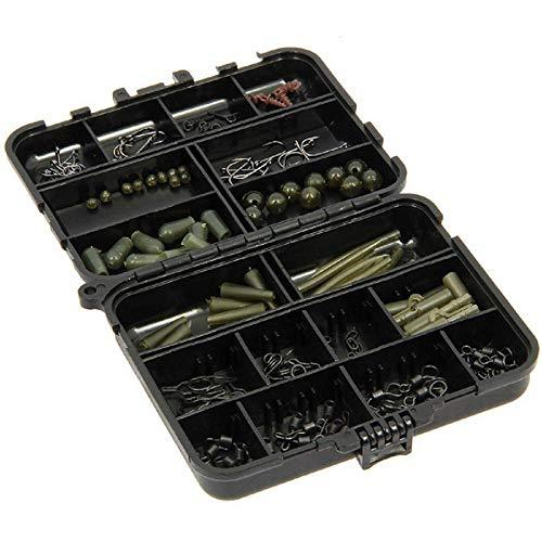 g8ds® Bit Box mit Endtackle 175 Teile Kleinteile Zubehör Karpfen Angeln Wirbel Haken Screws Big Eye Quick Change