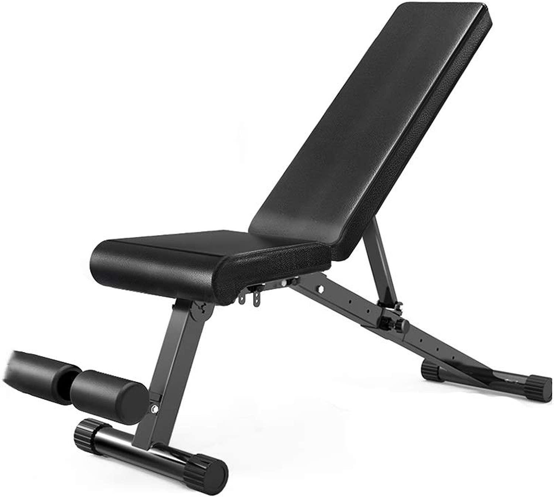 DUXX ダンベルベンチ、ホームベンチプレスフィットネスチェア折りたたみダンベルベンチ腹筋バードフィットネス機器 トレーニングベンチ