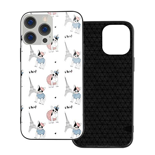 French Bulldog Ip12-6.1 for iPhone 12 Case 6.1 Inch/Designed for iPhone 12 Pro Case 6.1 Inch,Shockproof Design,TPU Bumper with Protective Hard Case Cover