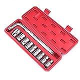 JYDQM Conjunto de Herramientas de reparación automática, Conjunto de Herramientas de Hardware Manual de 10 Piezas, Llave de Socket de reparación mecánica, Rojo