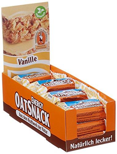 Davina Energy OatSnack, Müsli Riegel von Hand gemacht, Vanille, 30 x 65 g, 1er Pack (1 x 1950g)