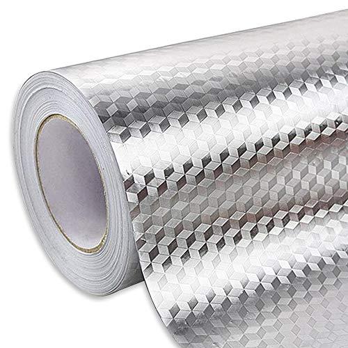 Ya Jin - Adhesivo de aluminio resistente al aceite para cocina, armario, cajón, autoadhesivo, papel pintado