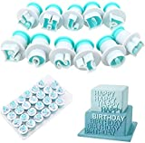 26 Capital Letter Cutter Alphabet Cake Cookie Mold Mini Plastic Biscuit Mould Press Icing Plunger Letter Baking Stamp Modelling Cutter for Fondant Cake Biscuit Making Cake Pie Decoration