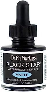 Dr. Ph. Martin's Star India Ink Bottle, 1.0 oz, Matte Black
