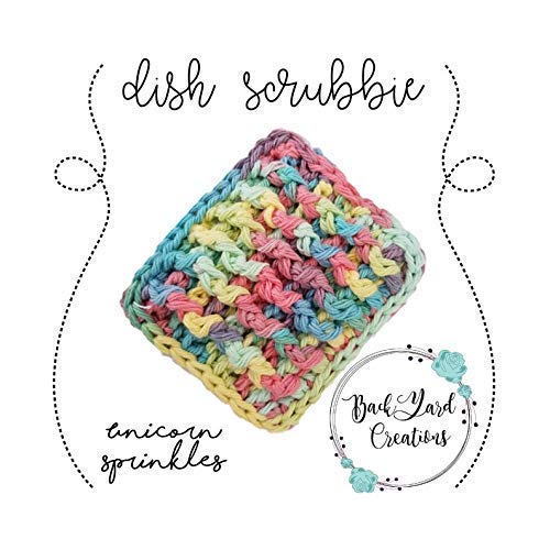 Milwaukee Mall Unicorn Sprinkles wholesale Scrubbie Crochet Kitchen Dish