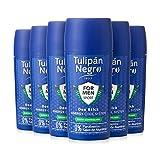 Tulipán Negro Desodorante en Stick for Men Sport, 6 Unidades x 75 Mililitros