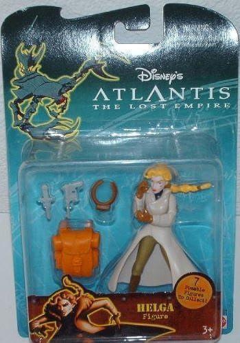 Atlantis poseable movie figure Helga from Disney by Mattel (English Manual)