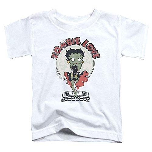Betty Boop - - Les tout-petits Breezy Zombie Love T-shirt, 3T, White
