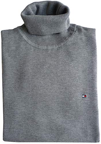 Tommy Hilfiger Rollkragen Pullover, Gr.XXL, Logo, Cotton Silk