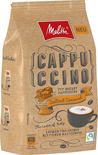 Melitta Instant Cappuccino, koffeinhaltiges Getränkepulver, cremig mit feinen Kaffeenoten, Salted Caramel, 330g