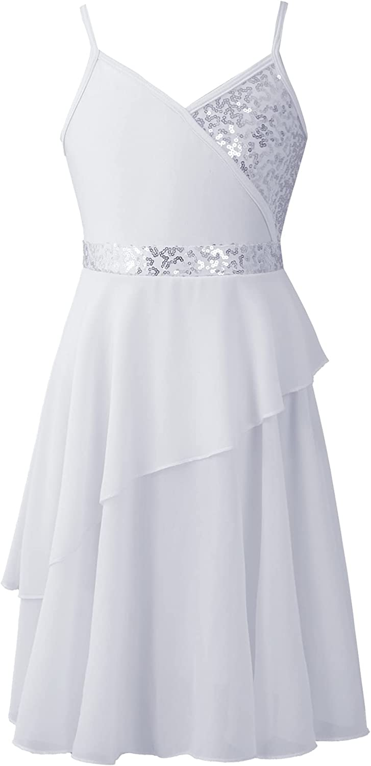 Online limited product Freebily Kids Girls Solid Color L Dance Lyrical Sleeveless Dress Max 64% OFF