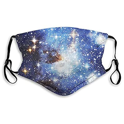 Ybdlho Fashion Printed Blue Galaxy Dust with Filter Element Anti-Dust,Repeatable,Protective Filter